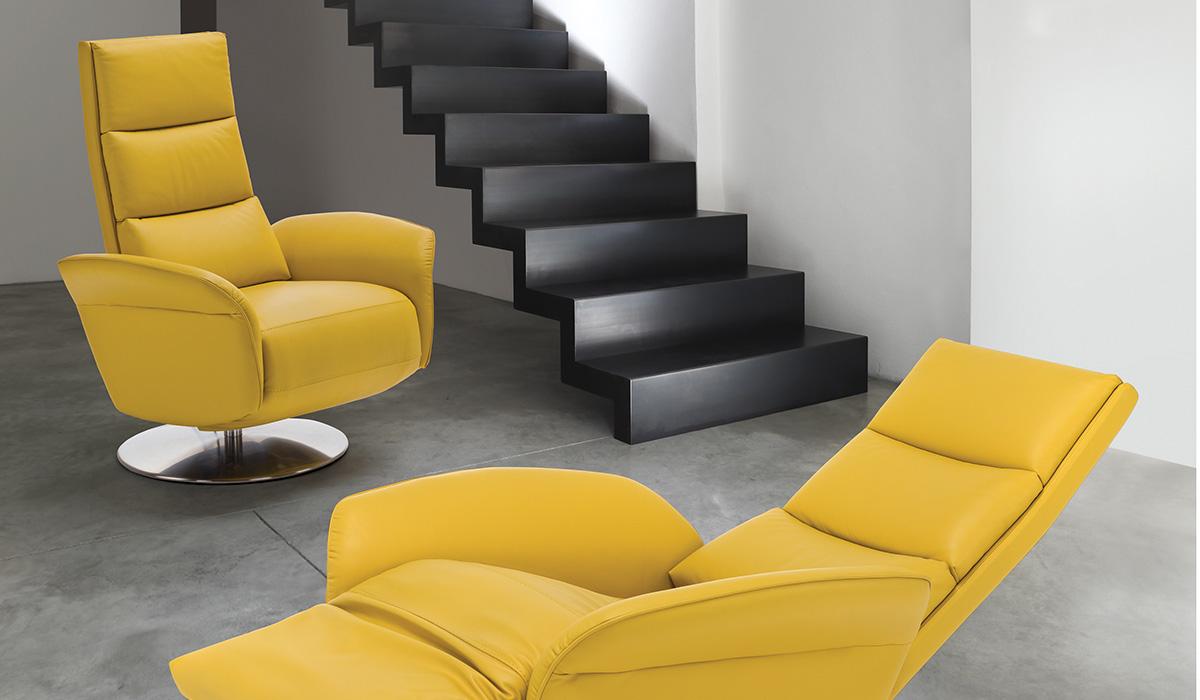 Bruxelles løftestol fra WOC world of comfort i gul