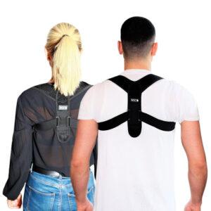 Holdningskorrigerende rygstøtte mand og kvinde